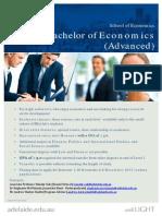 Bachelor of Economics Advanced Flyer