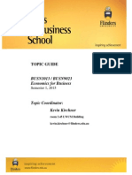 BUSN1013 Economics for Business Topic Guide