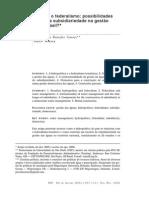 A Hidropolítica e o Federalismo. Possibilidades de Construçao Da Subsidiaridade Aguas No Brasil.