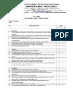 Blok 2 Check List Pemeriksaan Fisis Dasar