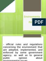 Environmental Policy- Group 4