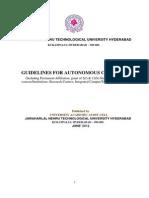 Autonomous Status Guidelines JNTU