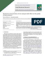Biochemical Characteristics of Ewe and Goat Milk (2011)