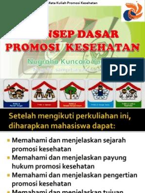 2 Konsep Dasar Promosi Kesehatan Pdf