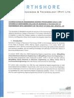 Accreditation of Northshore Engineering Programmes