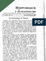 Revue Historique Du Sud-Est Europeen an 1938 Nr. 7-9
