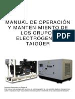 Manual Grupos Electrogenos Taigueer