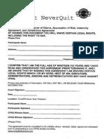 CrossFit NeverQuit Showdown Waiver Form
