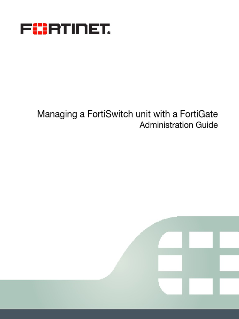 Managing a FortiSwitch Unit With a FortiGate | Ip Address