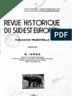 Revue Historique Du Sud-Est Europeen an 1938 Nr. 1-3