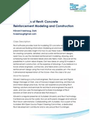 Revit Reinforcement   Autodesk Revit   Computing And