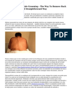 Manscaping And Male Grooming - The Way To Remove Back Hair The Quick And Straightforward Way