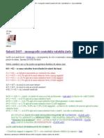 Monografie Contabilă SALARII Valabilă 2015