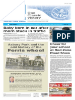Asbury Park Press front page Monday, Aug. 24 2015