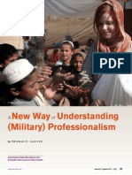 A New Way of Understanding Military Professionalism