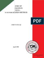 Analysis of Deformation Surveys, A Generalized Method