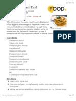 Curried Red Lentil Dahl Recipe - Food.com