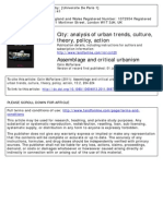 Colin Mcfarlane Assemblage and Critical Urbanism 2011