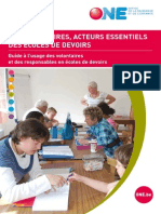 Brochure Volontaire Ecole de Devoirs 2013 ONE