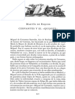 "Martin de Riquer ""Cervantes y El Quijote"""