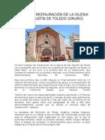 Restauración de La Iglesia San Agustín de Toledo