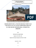 Estudio Suelos Mejoramiento Transitabilidad Calles Complementarias Chuquibamba Condesuyos