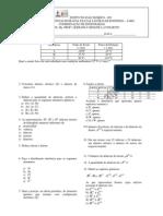 Química Fundamental - Lista de Exercicios 2013