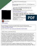 Heiden Van Der the Letter and the Witness