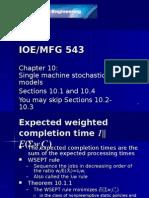 Single machine stochastic models