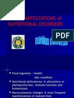 Skin Manifestation of Nutritional Disorders