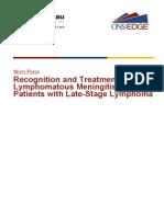 Recognition and Treatment of Lymphomatous Meningitis