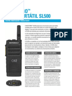 Motorola MOTOTRBO SL500 Especificaciones