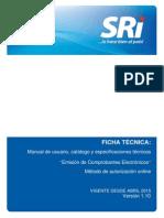 Ficha Tecnica Comprobantes Electrónicos Versión 1 10 13 04 2015