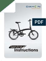 Dahon Bikes - Service Manual - EnG