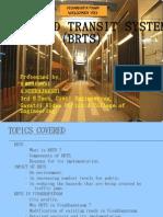 Bus Rapid Transit System ( Brts )