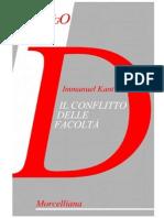 Immanuel Kant - Il conflitto delle facoltà