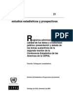 Registros Administrativos Calidad de Los Datos y Credibilidad Publica