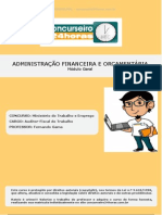 Aft Modulo Cespe Administracao Financeira e Orcamentaria Aula INAUGURAL