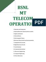 Bsnl Mt Telecom Operations