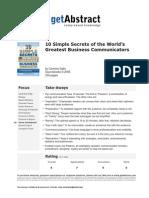 10 bSecrets of the Worlds Greatest Business Communicators e