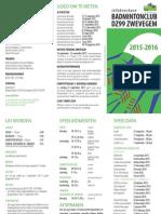 DZ99 Zwevegem | infobrochure 2015-2016