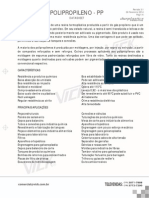 Datasheet Polipropileno (PP)