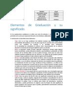 Elementos de Graduación y Su significado