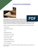 Frases Para Utilizar en Los Informes de Evaluación