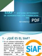 Siaf - Sistema Integrado de Administración Financiera Del