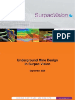 Underground Mine Design