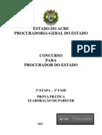 Prova de Parecer Jur PGE-AC 2012