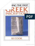 [B. F. Cook] Greek Inscriptions (Reading the Past)