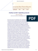 Justiça Social e Injustiça Pessoal