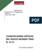 Concepciones Criticas Del Mundo Tras El 11-S